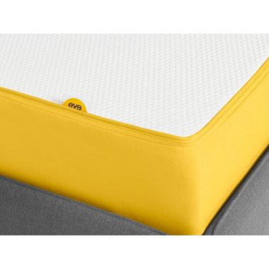 Eve UK King Mattress White and Yellow