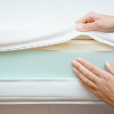 Hand Touching Memory Foam Mattress